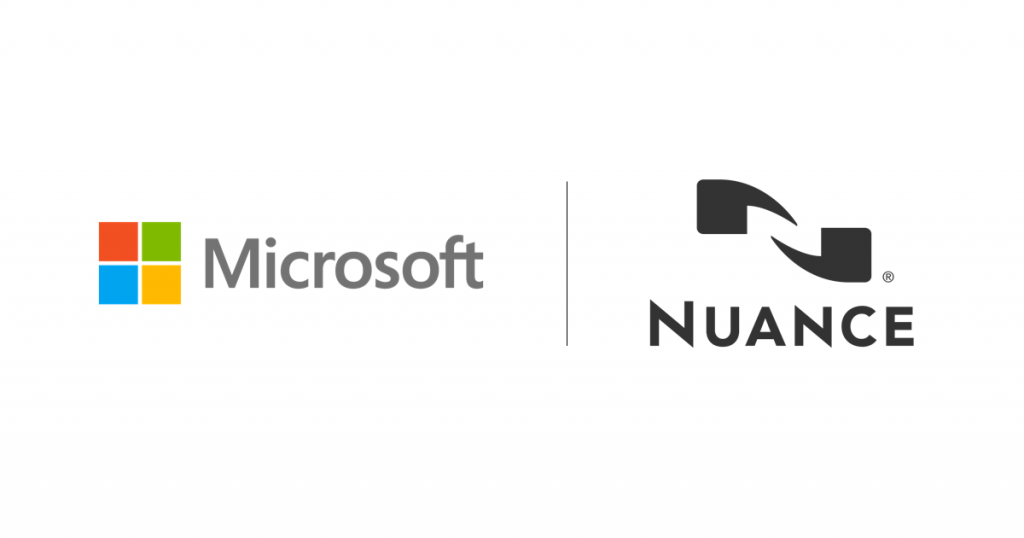 Microsoft and Nuance logos side by side