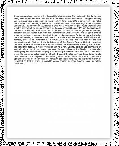 Block text format